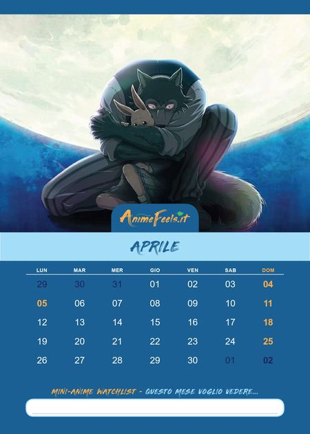 Calendario_Anime_2021_Beastars_4
