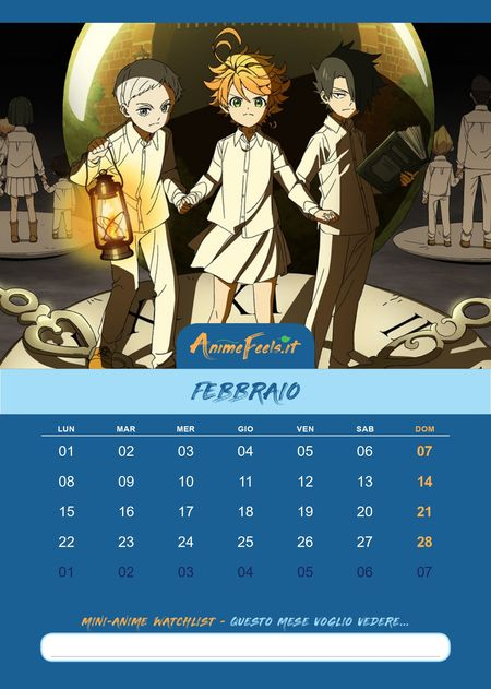 Calendario_Anime_2021_The_Promised_Neveland_2